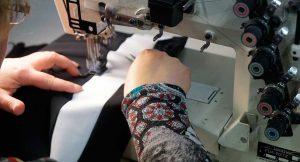 Ensamblado del tejido blanco en el culote nacca x-15